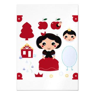 Convite do ímã com princesa da neve