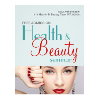 Convite do insecto do seminário da beleza da saúde flyer 21.59 x 27.94cm