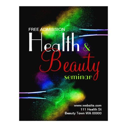 Convite do insecto do seminário da beleza da saúde panfleto coloridos