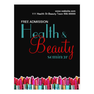 Convite do insecto do seminário da beleza da saúde modelo de panfleto