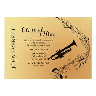 Convite do instrumento musical da trombeta