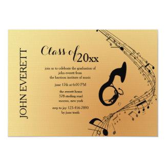 Convite do instrumento musical da tuba