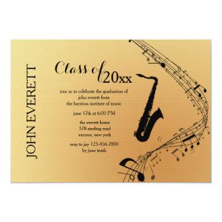 Convite do instrumento musical do saxofone