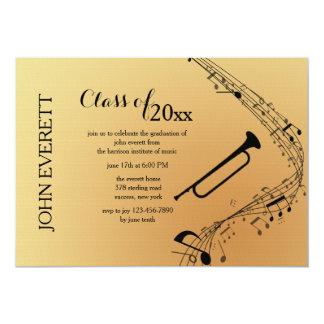 Convite do instrumento musical do Trombone