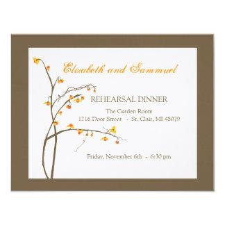 Convite do jantar de ensaio da queda
