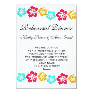 Convite do jantar de ensaio de Luau Convite 12.7 X 17.78cm