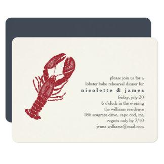 Convite do jantar de ensaio do assar da lagosta do