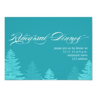 Convite do jantar de ensaio do casamento do Natal
