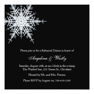 Convite do jantar de ensaio do casamento no