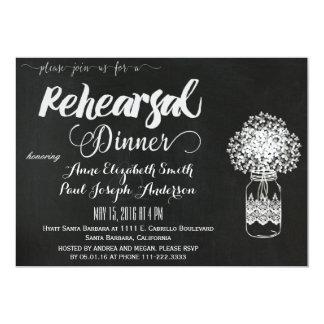 Convite do jantar de ensaio do frasco de pedreiro