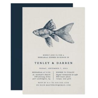 Convite do jantar de ensaio do mar profundo  