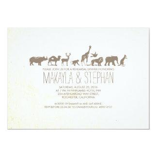 Convite do jantar de ensaio do safari do jardim