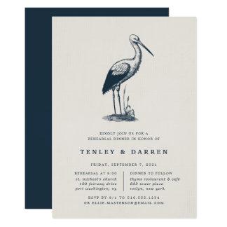 Convite do jantar de ensaio do Shorebird  