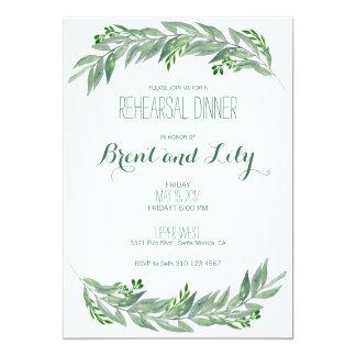 Convite do jantar de ensaio - folha das hortaliças