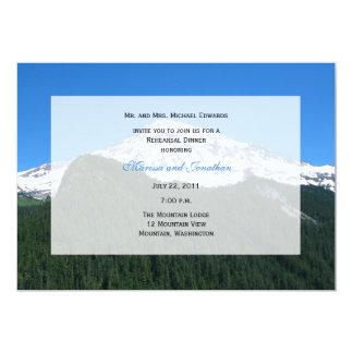 Convite do jantar de ensaio -- Paisagem da Convite 12.7 X 17.78cm