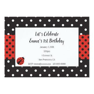 Convite do joaninha para o aniversário ou o chá de