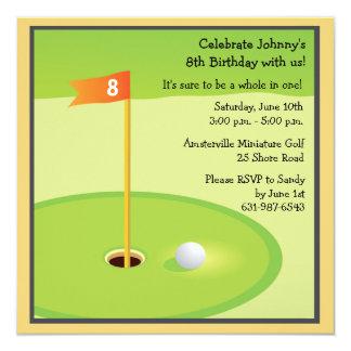 Convite do jogo de mini golfe