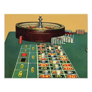 Convite do jogo do casino da mesa da roleta do