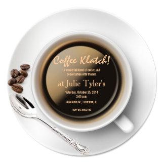 convite do klatch do café