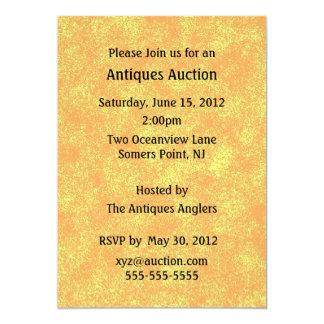 Convite do leilão das antiguidades