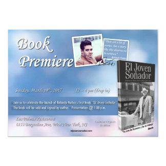 Convite do livro do EL Joven Sonador
