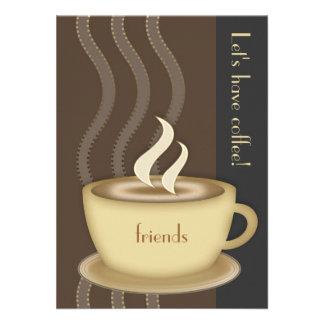 Convite do meio do copo de café