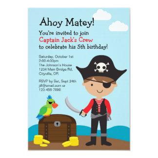 Convite do menino do pirata
