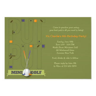 Convite do mini golfe