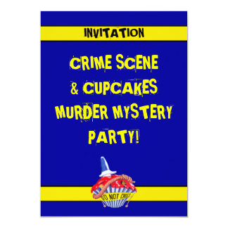 Convite do mistério de assassinato do cupcake da convite 12.7 x 17.78cm