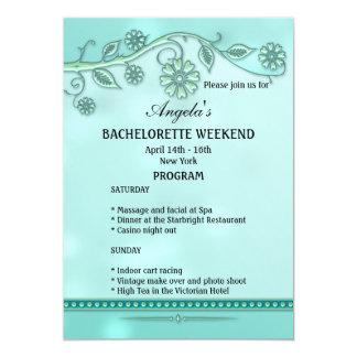 Convite do modelo do programa do fim de semana de