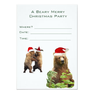 Convite do Natal de Beary