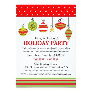 Convite do Natal ou da festa natalícia do