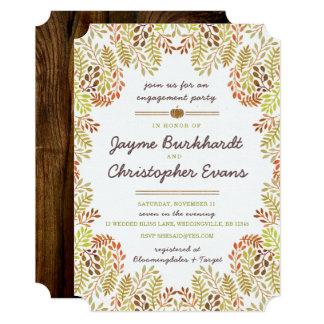 Convite do noivado do folhagem de outono