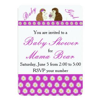 Convite do ouriço e do chá de fraldas das