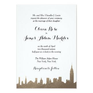 Convite do ouro do falso de New York New York