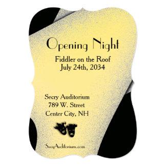 Convite do ouro do teatro da noite da inauguração