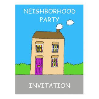 Convite do partido da vizinhança