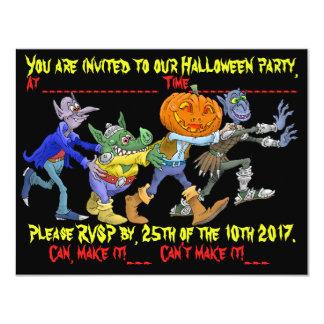 Convite do partido do Dia das Bruxas