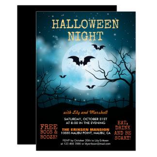 Convite do partido | do Dia das Bruxas da noite do