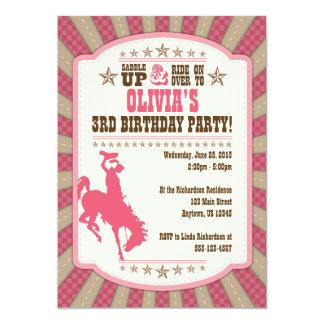 Convite do party girl do aniversário de 3 anos da