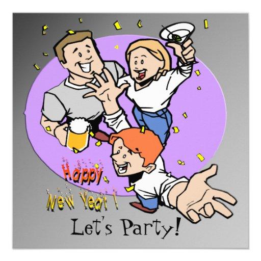 Convite do Partyers de ano novo
