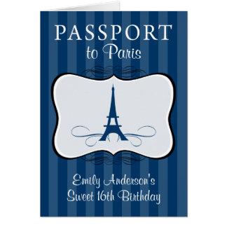 Convite do passaporte do aniversário de Swee 16o