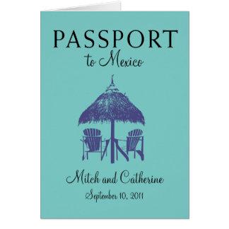 Convite do passaporte do casamento a Cancun México