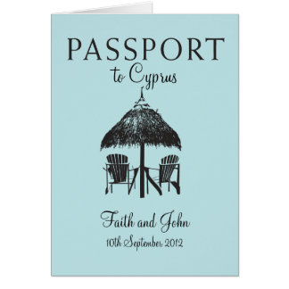 Convite do passaporte do casamento a Chipre