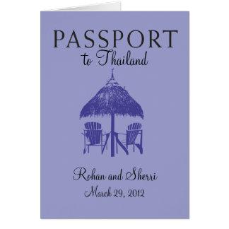 Convite do passaporte do casamento a Tailândia