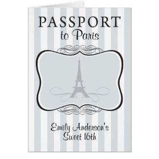 Convite do passaporte do doce 16o