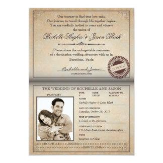 Convite do passaporte do vintage