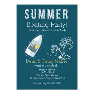 Convite do passeio do barco