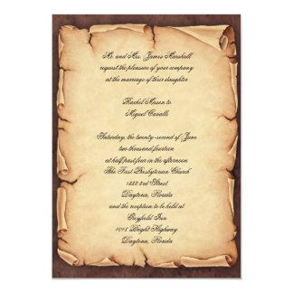 Convite do pergaminho do vintage