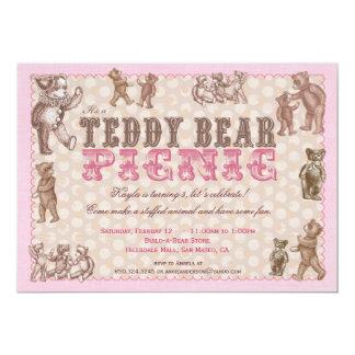 Convite do piquenique do urso de ursinho do estilo
